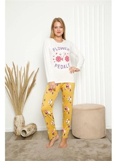 Akbeniz Pijama Takım Beyaz